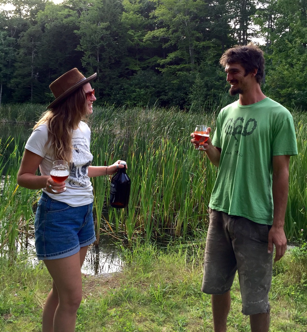 Davis and I plottin' at Oxbow//Newcastle, Maine