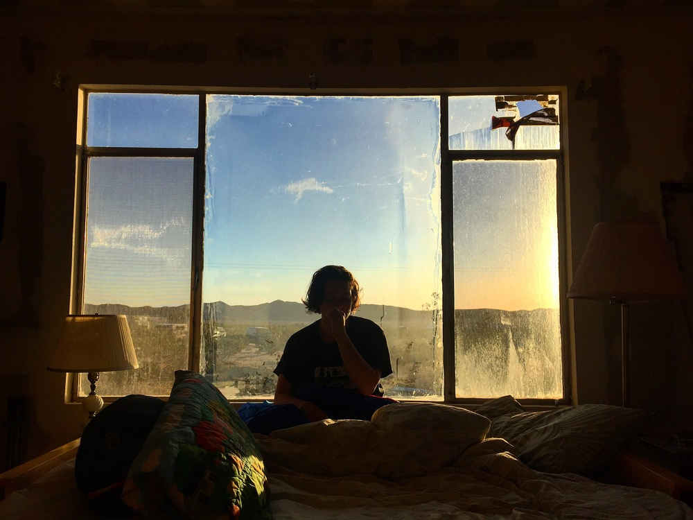 Marta at Sun Rise// Joshua Tree, California