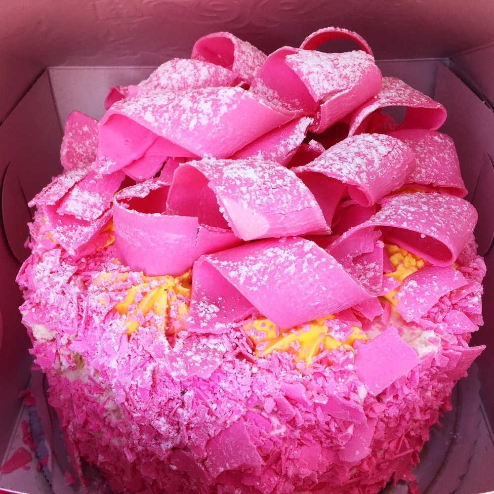 The Pink Lady Cake from The Madonna Inn// San Luis Obispo, California