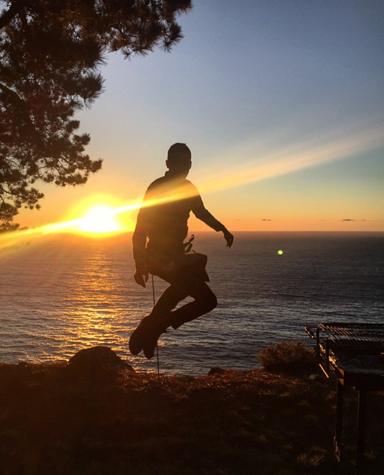 Justin Williams reaches for the sky// Big Sur, California