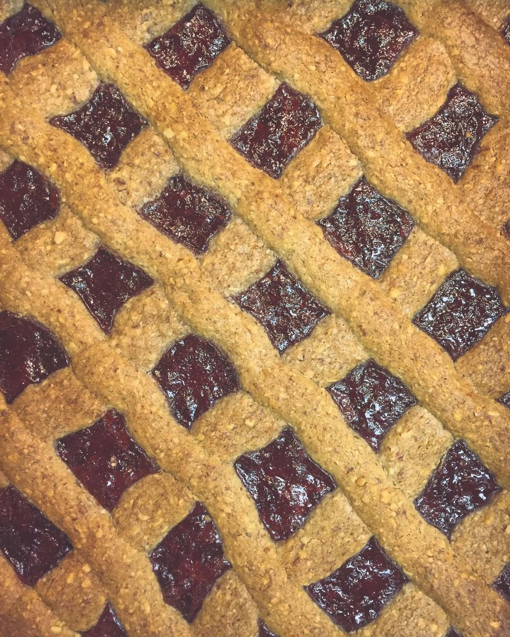 Linzertorte compliments of Pastry Chef Michael Lynch// Upper Black Eddy, Pennsylvania