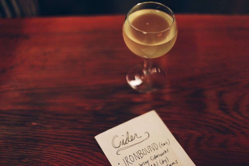 Ironbound Cider from New Jersey Cider Works// Photo by Ellie Tremble