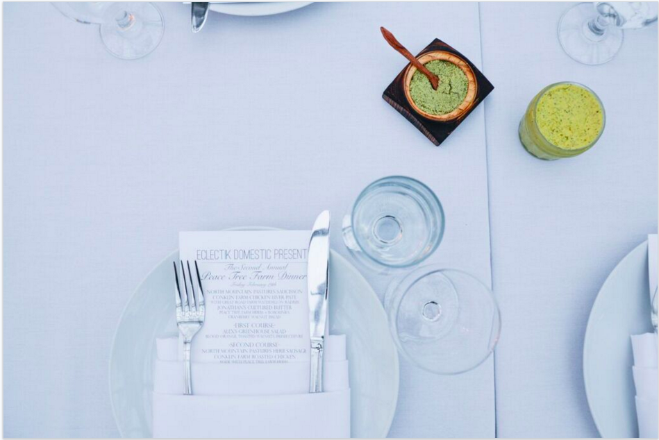 Table Setting// Photo by James Bassett-Cann