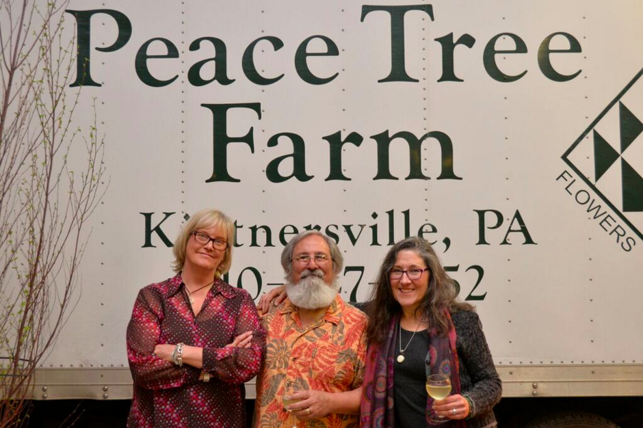 The PASA/Peace Tree Team (Left to Right Lauren, Lloyd and Candy) //Photo by James Bassett-Cann