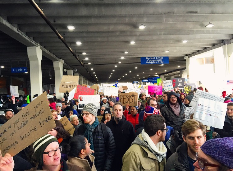 Muslim Ban Protest Day 2 at Philadelphia International Airport//1.29.17