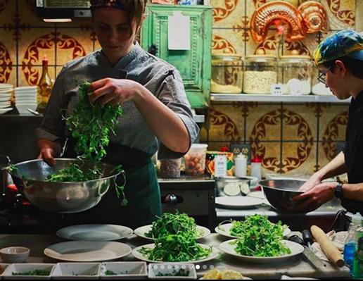 Chef Katie Briggs and Braden Biel at Bridgeton House// Photo by Ellie Tremble