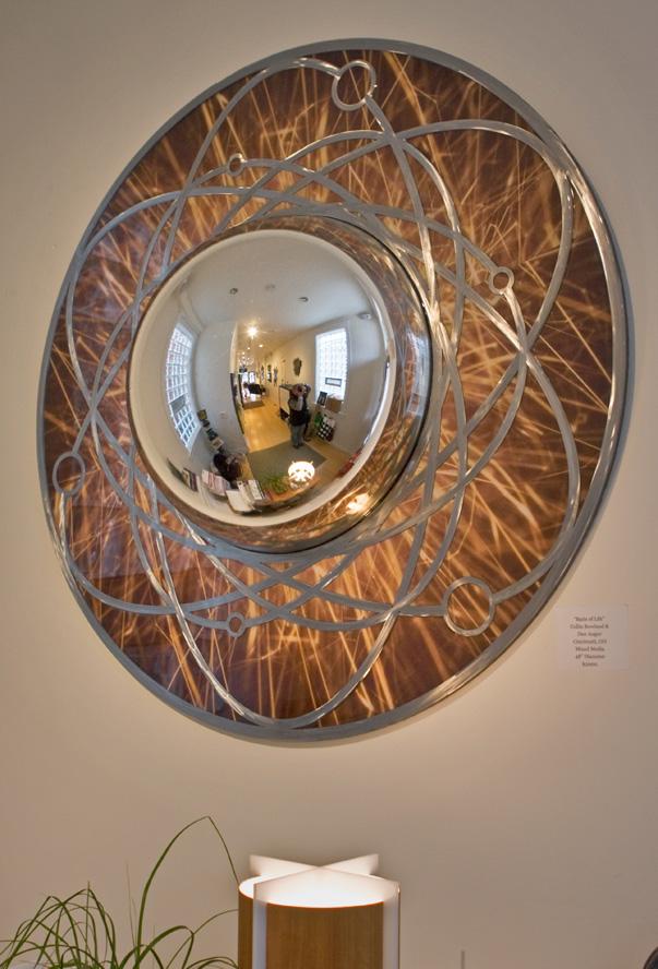 "Basis of life  48"" x  12"" (depth of chrome mirror bubble center) - Rowland Augur"
