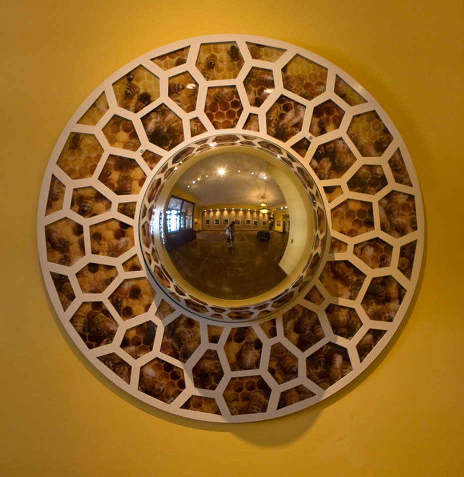 "Royal Paradigm 48"" x 12"" (depth of chrome mirror bubble center) - Rowland Augur"