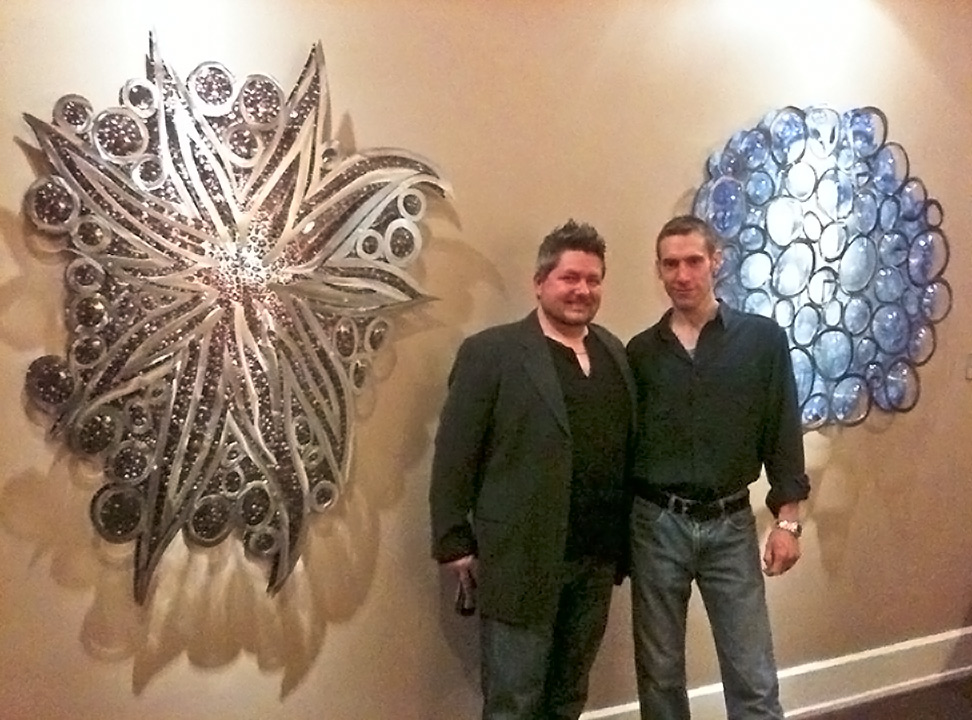 Collin Rowland and Dan Augur (AKA: Rowland Augur) at one of our art openings at our good friend's Bromwell's Gallery.
