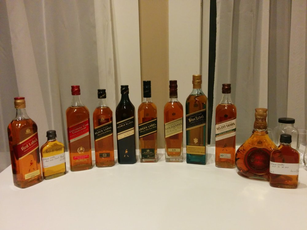 Johnnie Walker Line up