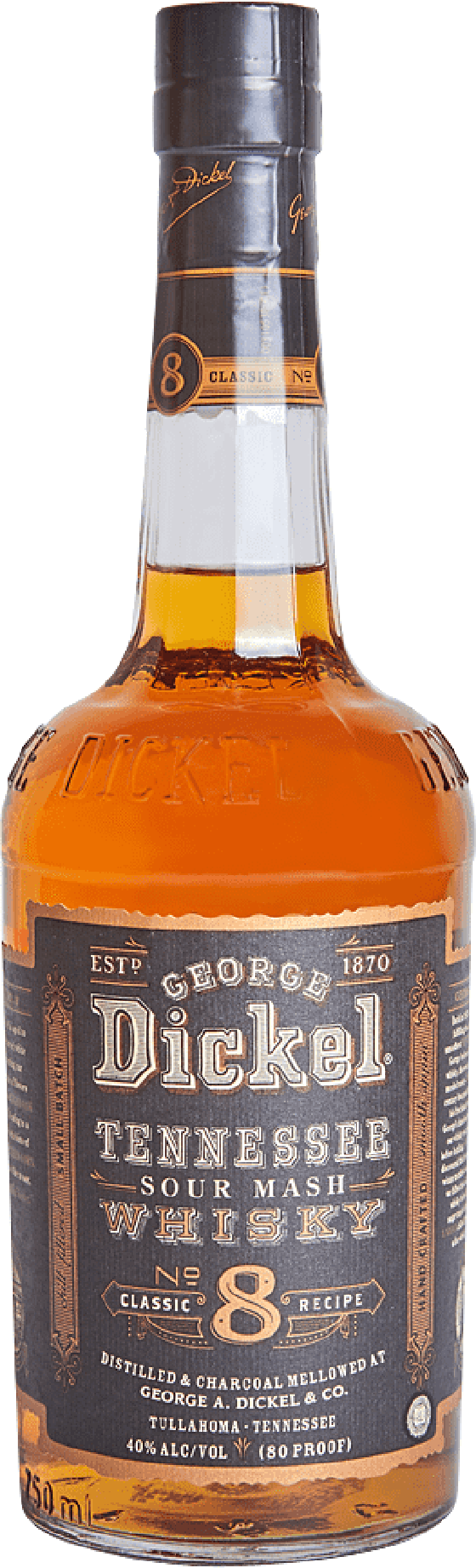 9. George Dickel Classic No.8 Sour Mash Tennessee Whiskey