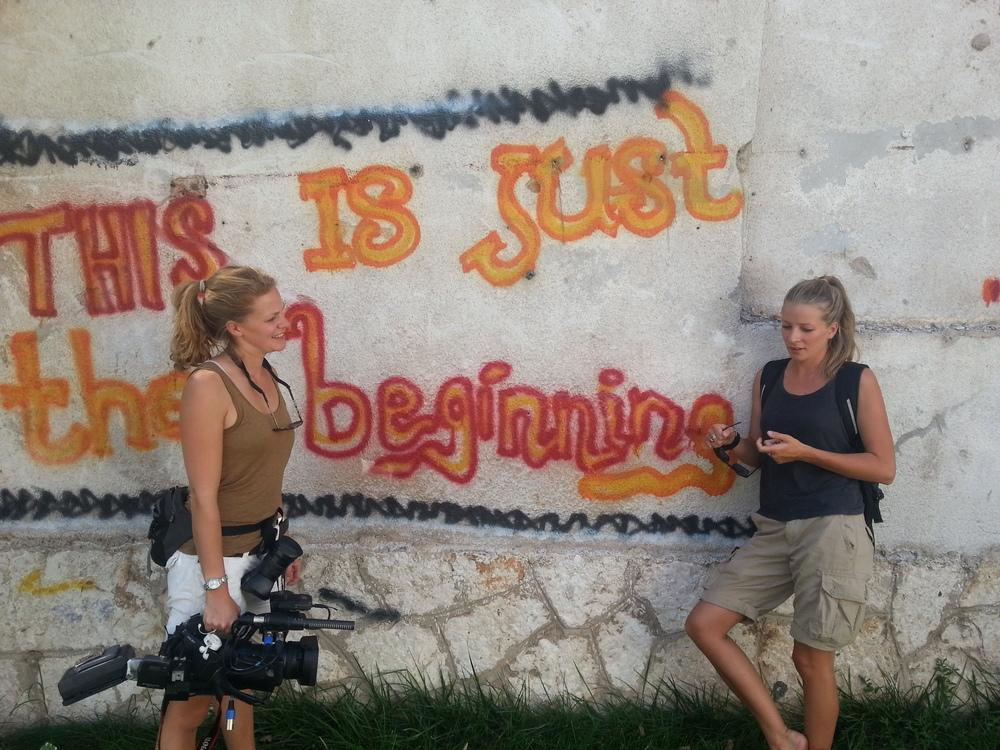 Sophia & Georgia, Mostar September2013