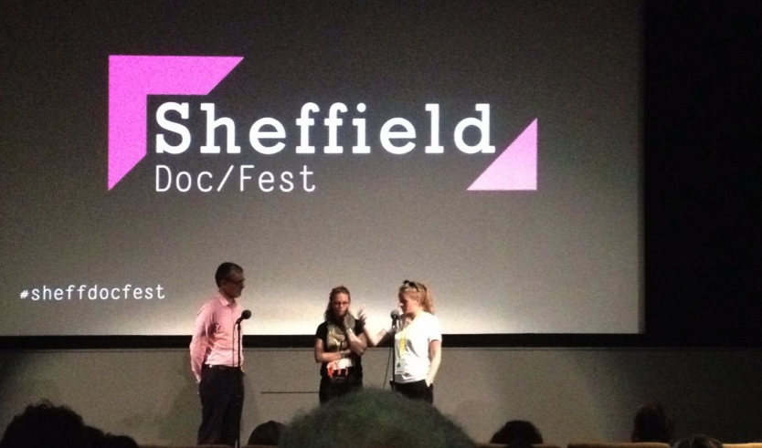 Sheffield Doc Fest Q&A with Georgia and Sophia after the world premier of In the Shadow of War