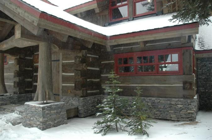 grey and red cabin snow LifeTime wood treatment.jpg