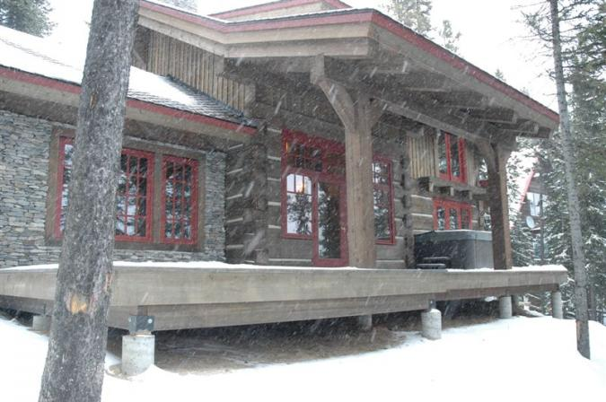 log cabin treated with LifeTime wood treatment.jpg