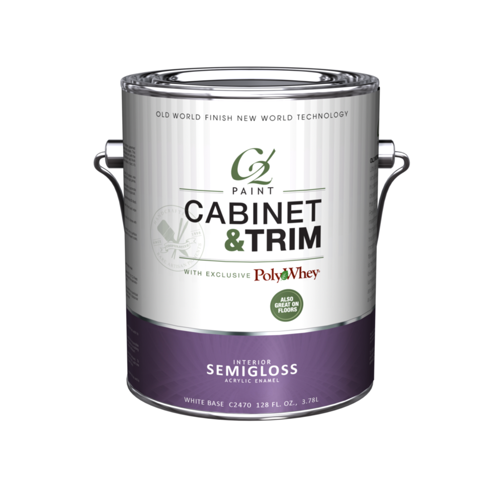 Semi-Gloss - Our revolutionary Cabinet & Trim Semi-Gloss combines C2 Paint with patented PolyWhey® technology — a safe, easy-to-use finish using recycled dairy whey protein. This innovative formula blends the elegance of an
