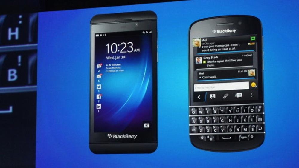 Blackberry Z10 ve Blackberry Q10 / Fotoğraf: PCpro