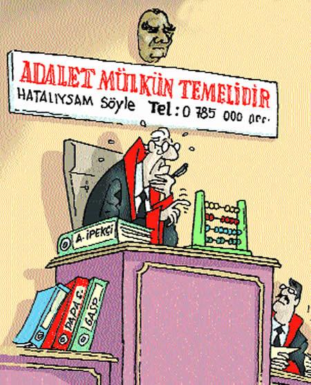 Muhtemelen Latif Demirci'ye ait bir karikatür.