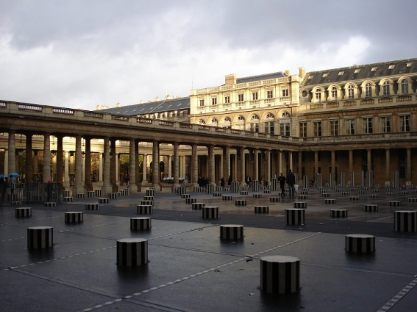 Daniel Buren's columns in the Palais-Royal