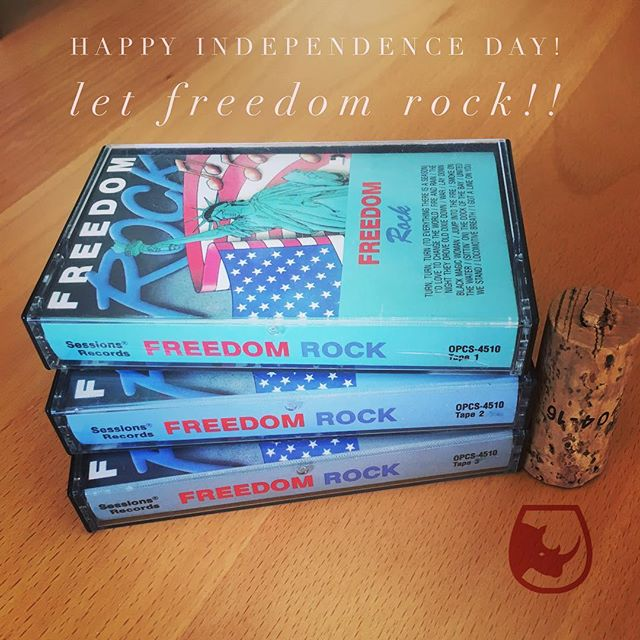 Happy Independence Day! Enjoy today's soundtrack. Cheers. #4thofjuly #freedom #wine #cassette