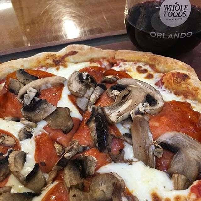 #redwine and #pizza two great tastes that taste great together. @wholefoods #cabernet