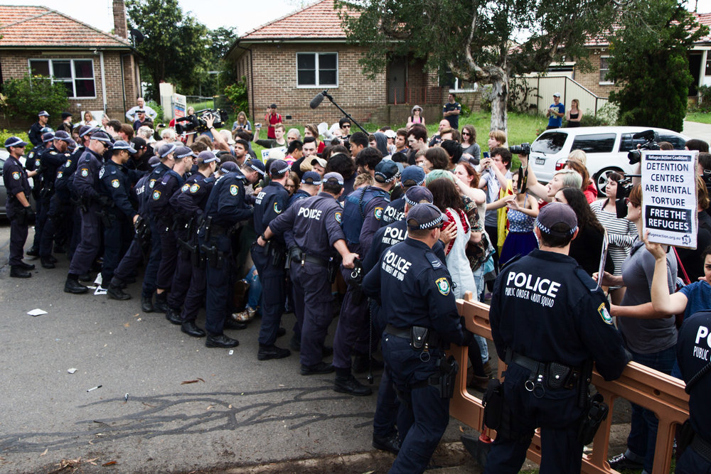 PROTEST AT VILLAWOOD IMMIGRATION PRISON