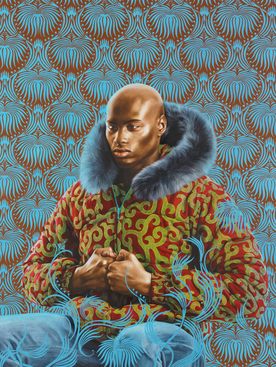 "Artist: Kehinde Wiley ""Kern Alexander Study I"" Oil on Paper, 53"" x 40"" 2011"