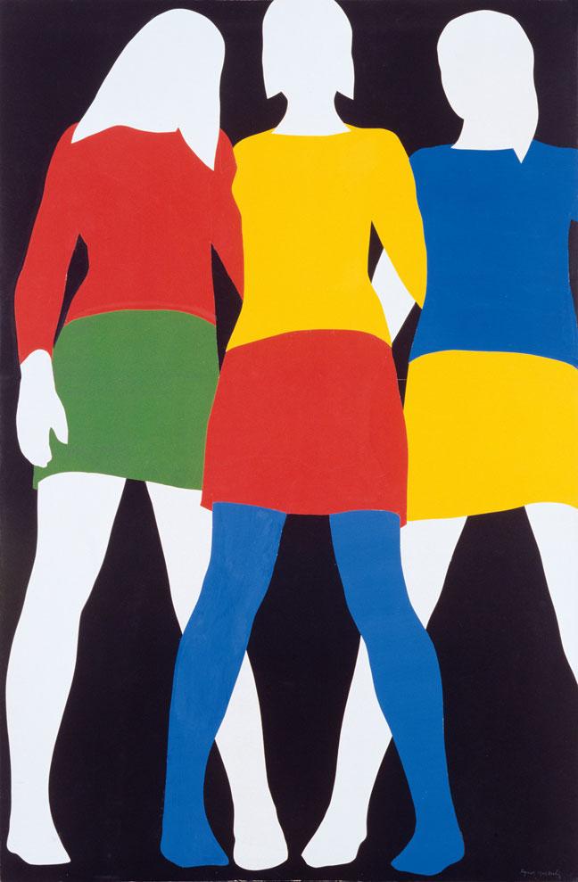 Mireille, Colette, Anne  (1967) by Franz Gertsch,   Found  here .