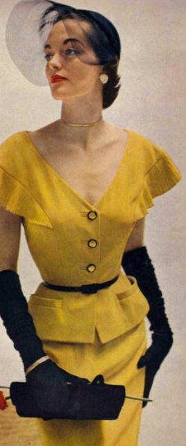 prettyshake: Lovely in Yellow. ♥ 1950's