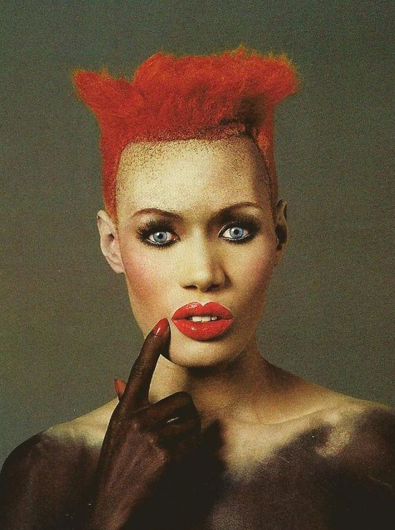80s-90s-supermodels :      Grace Jones, early 80s