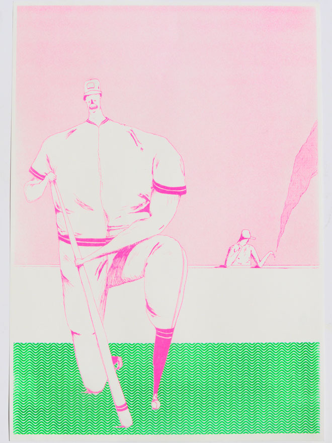 New print from  Jack Sachs  !     'Bummer'   A3 Risograph print   now available through  Beach London .
