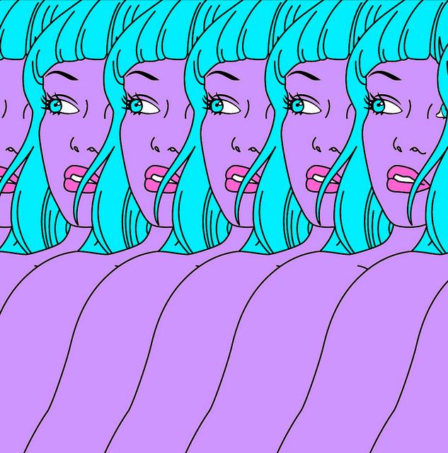 Blue hair Girls  by  gwenboul  on Flickr.