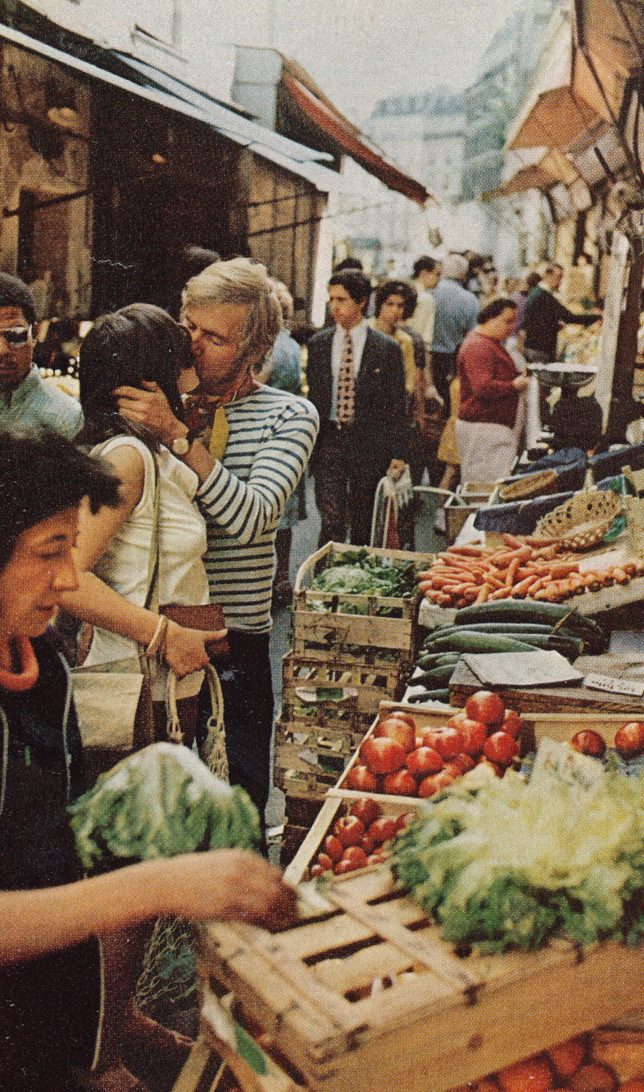 "national geographic, 1972 ""young lovers in paris"" by gordon w. gahan"