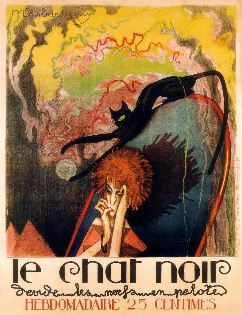 mudwerks :     (via  vintage_ads: Le chat noir - Hebdomadaire )
