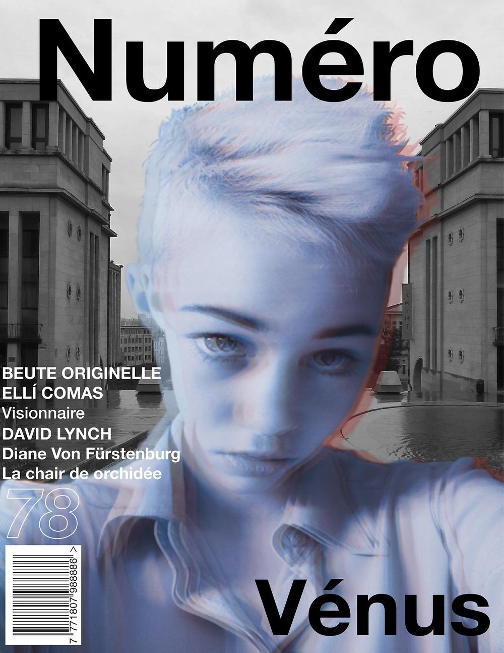 Numéro Magazine Cover Project.    Ellie Foxes x Francotron.