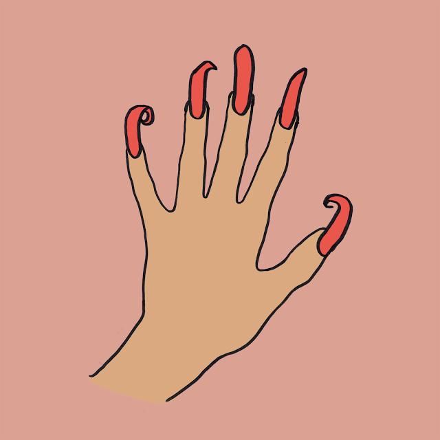 """""""Fake nails / long nails / no."""""""