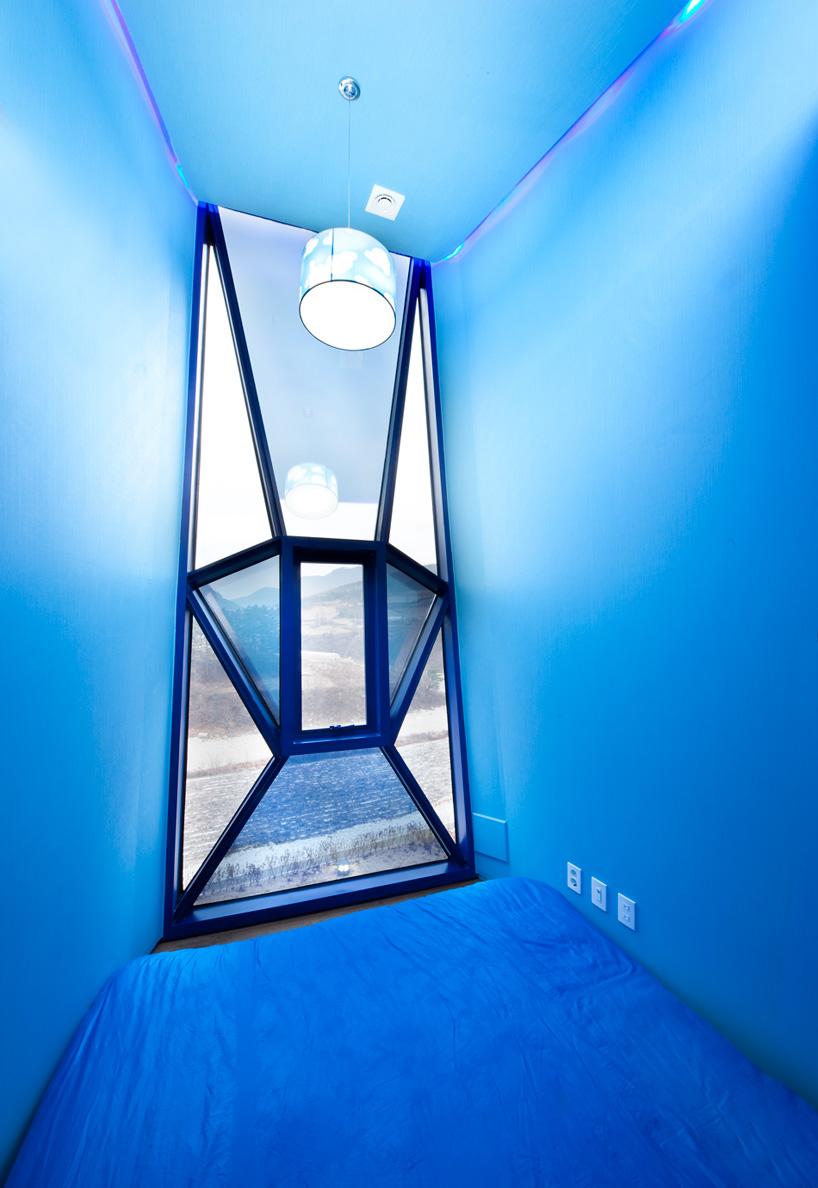 'Spanish Blue' bedroom.