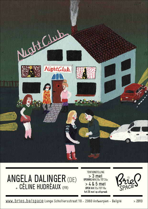 A poster for Angela's recent show in Belgium with    Céline Hudréaux .