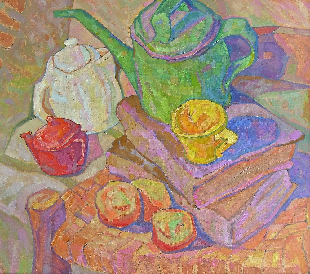 "Jim Green, ""Still Life with Green Watering Can"""