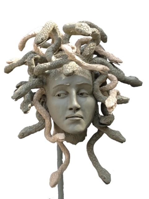 """Medusa""  Plasteline 18"" X 15"" X 15""   Andrew Luv"