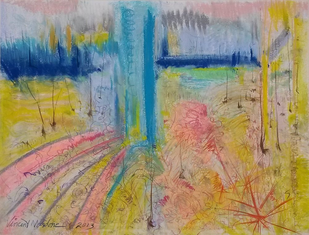 """Back Bay Whimsy""  Pastels 20""X28""   Vincent Nardone"