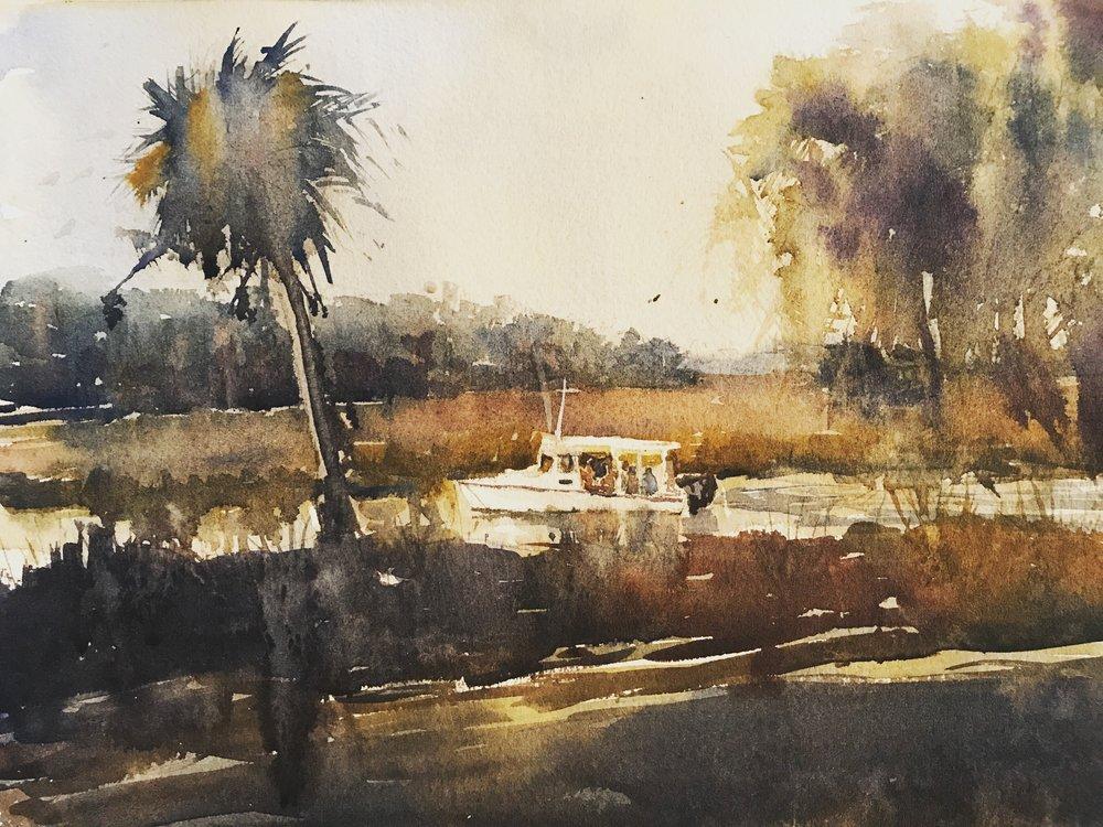 """Low Country""  Watercolor  8"" X 10""   Beth Shoener"