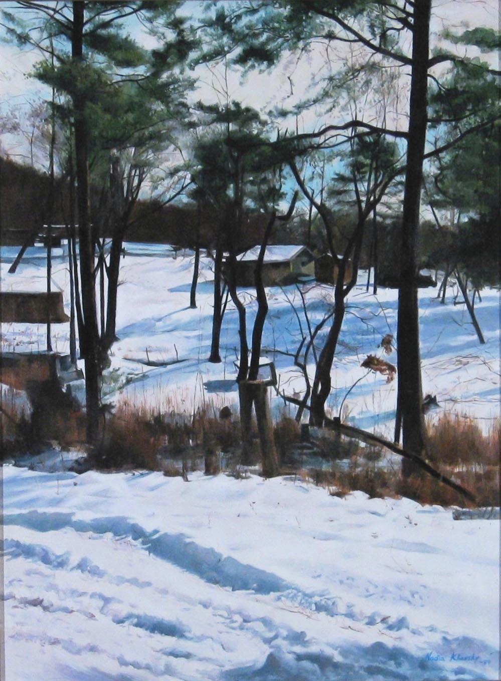 """Winter in Vermont""   Oil on canvas 40"" X 30""   Nadia Klionsky"