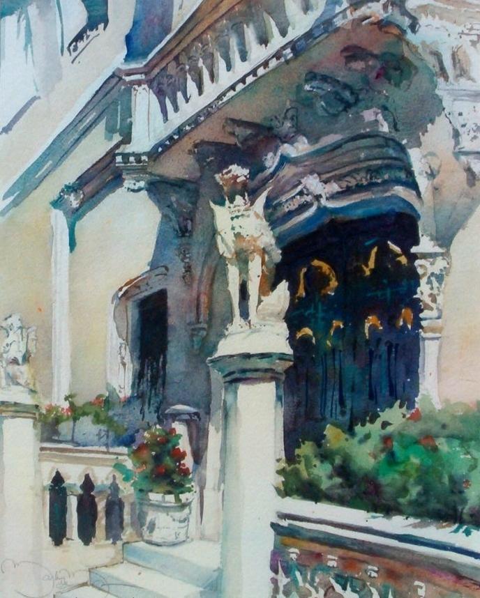 """""""Proud Traditions""""  Watercolor 20"""" x 15""""   Mark de Mos"""