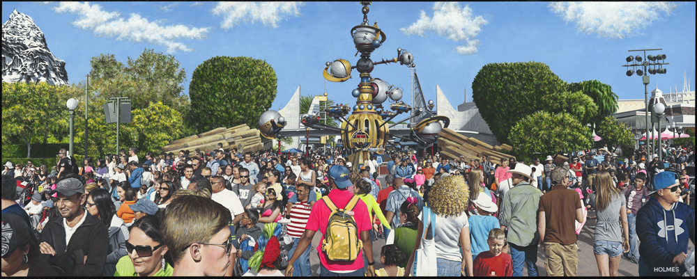 David Holmes Title: Tomorrowland Size: 32 x 80 x 2 Price: $45000 Medium: Watermedia