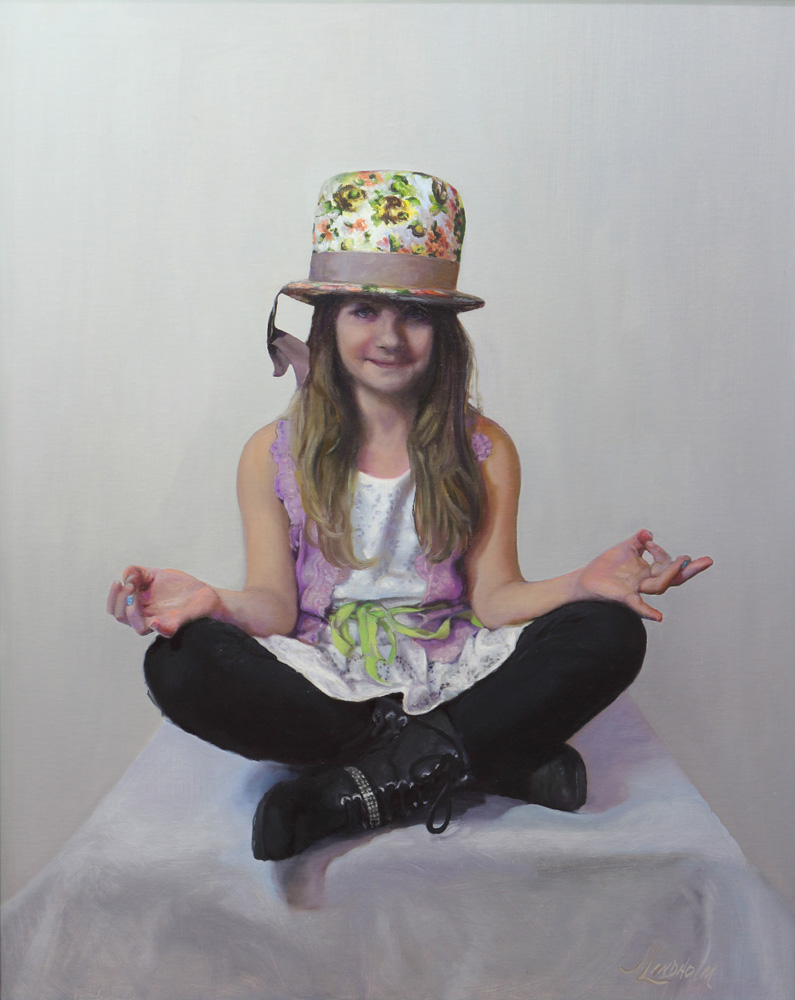 Jamie Lindholm Title: Namaste Size: 30 x 24 Price: $16000 Medium: Oil