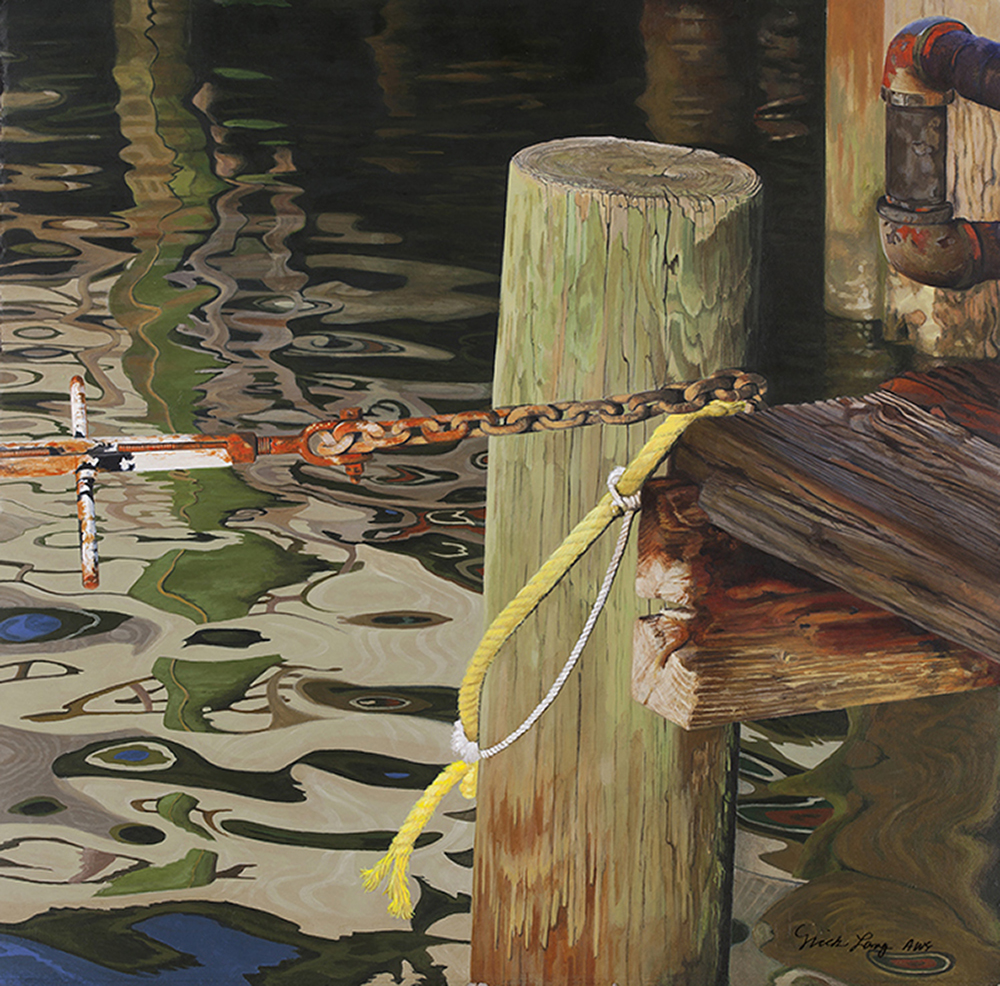 Nick Long Title: Dock of the Bay Size: 18 x 18 Price: NFS Medium: Watermedia