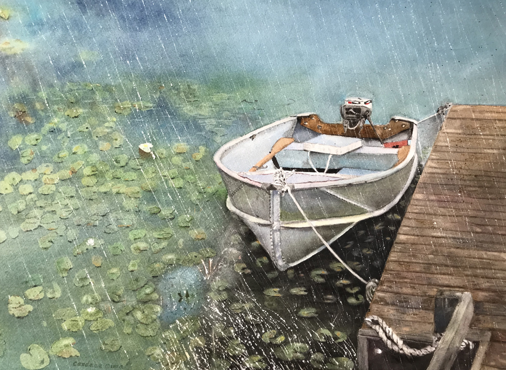 Candace Cima Title: Done Fishing Size: 14 x 20  Price: $1600