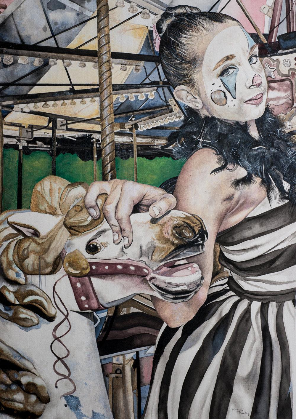 DebiLynn Fendley Title: Carousel Size: 30 x 22 x 1 Price: $1500