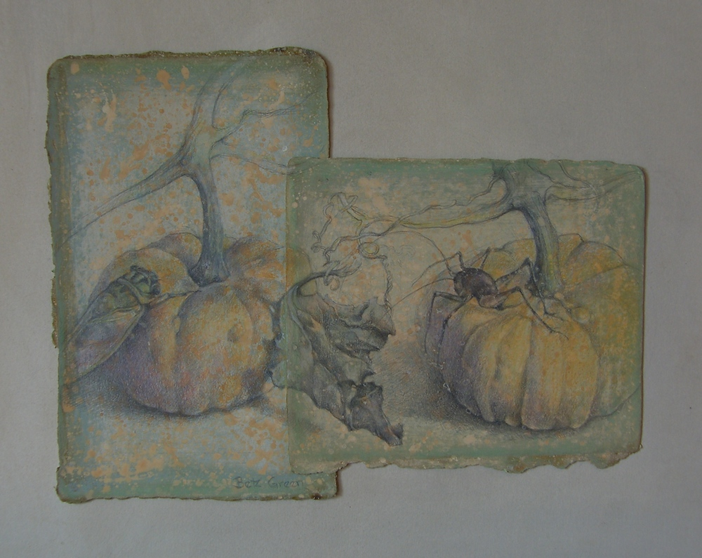 Betz Green Title: Fall in the Garden Size: 13 x 17 Price: $850